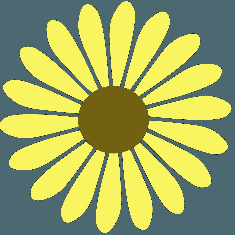 タンポポ色のガーベライラスト