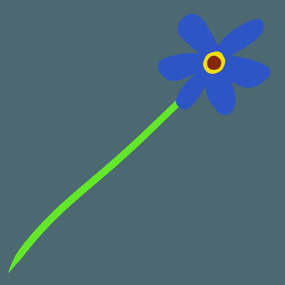 青っぽいガーベライラスト