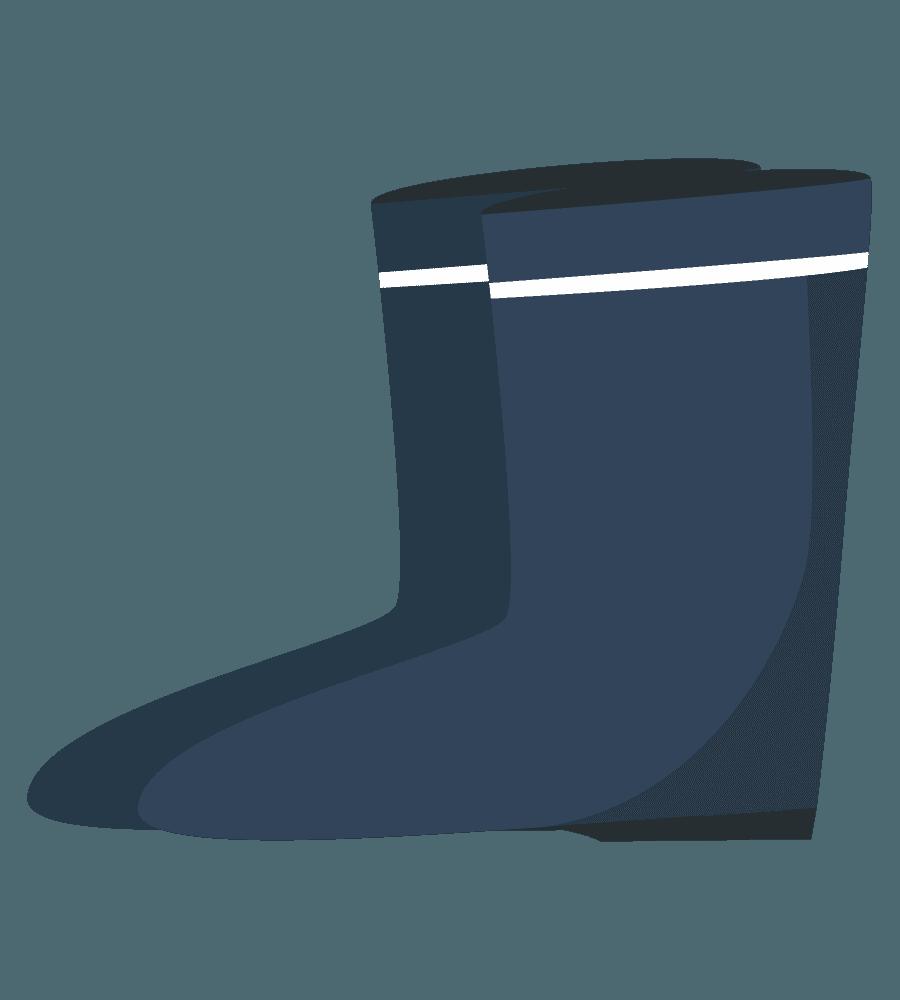 ガーデニング用の長靴のイラスト