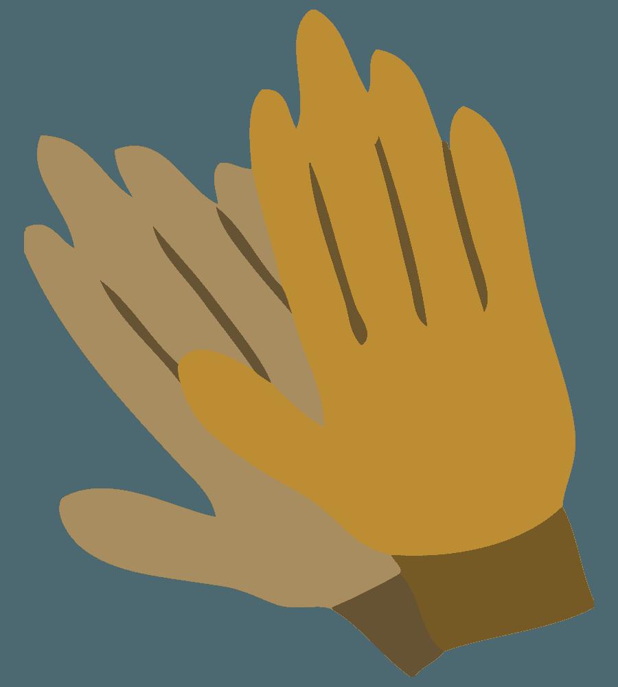 ガーデニング専用手袋のイラスト