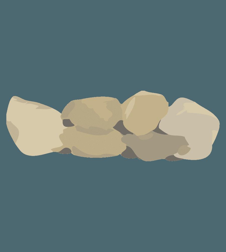 石垣のイラスト