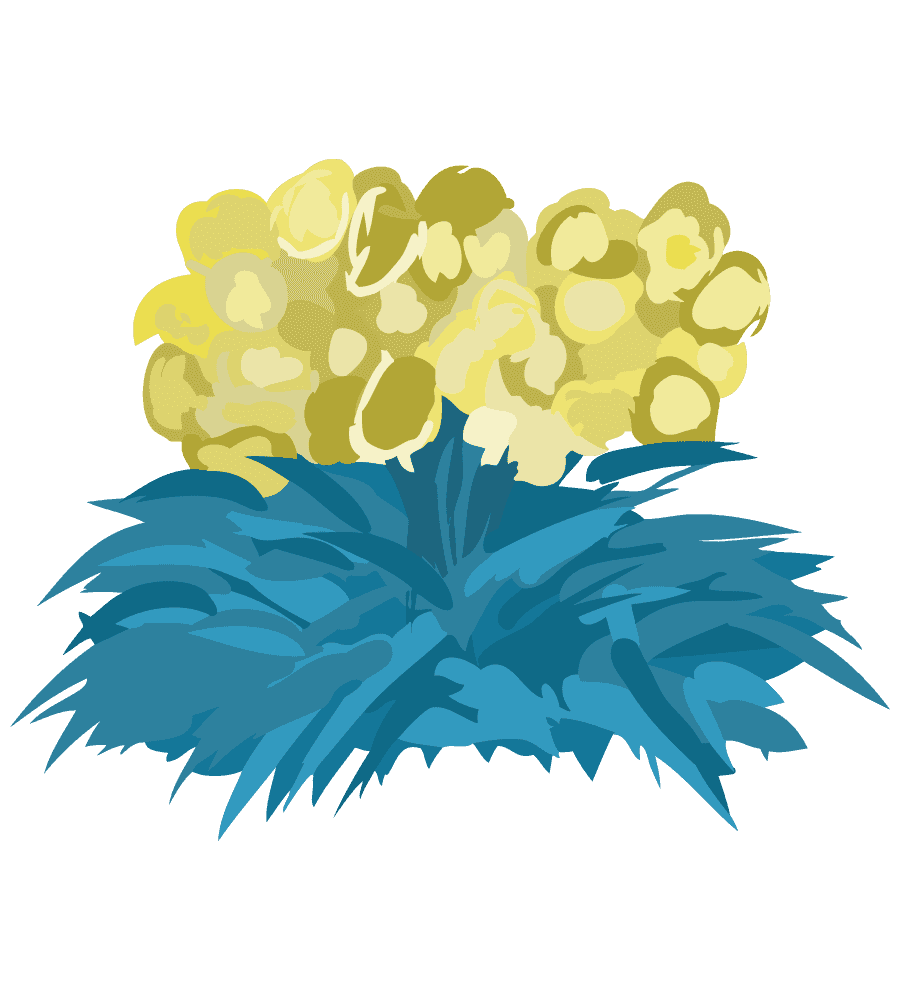 ガーデニング用黄色い花のイラスト