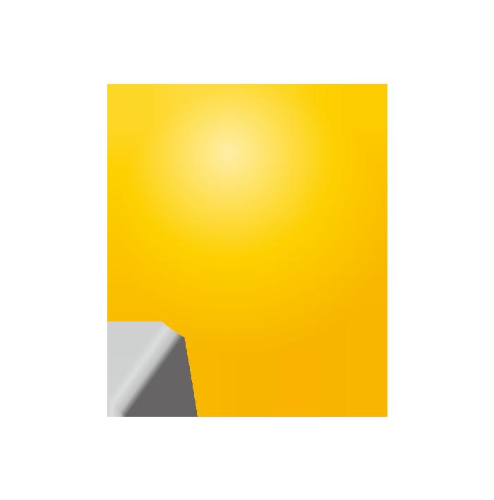 黄色の画鋲(丸)