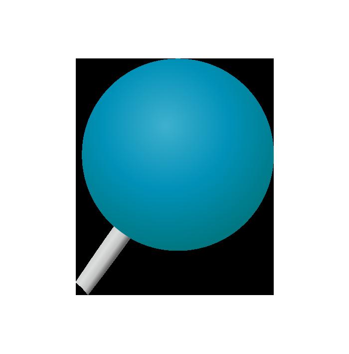 青の画鋲(丸)