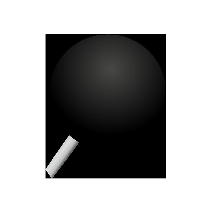 黒の画鋲(丸)
