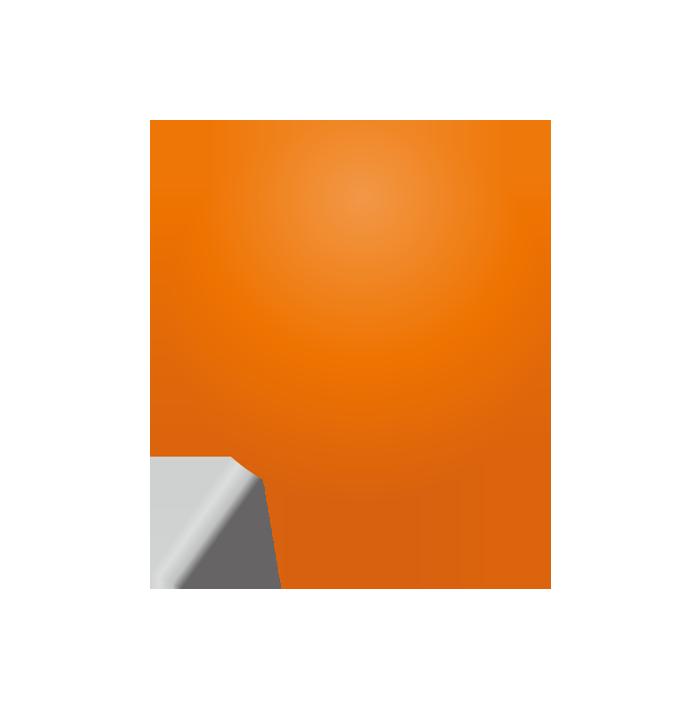 オレンジの画鋲(丸)