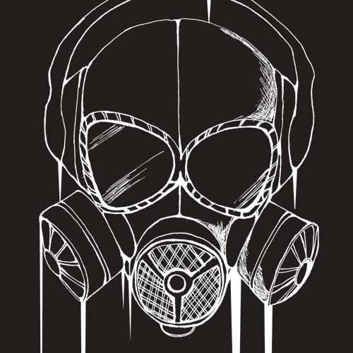 ガスマスクTシャツ