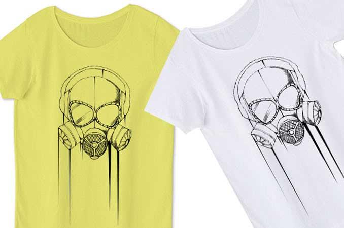 レディースガスマスクTシャツ