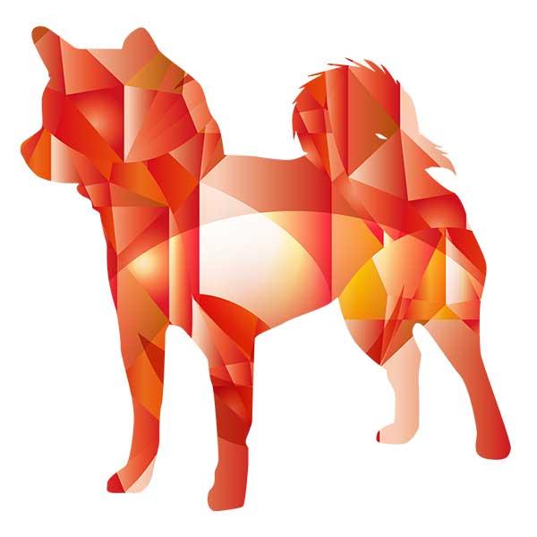 ルビー柴犬デザイン