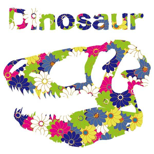 花柄恐竜デザイン