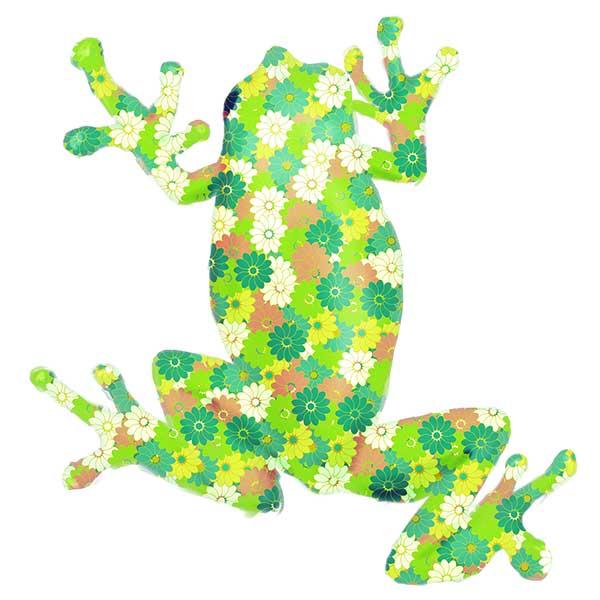 花柄カエルデザイン
