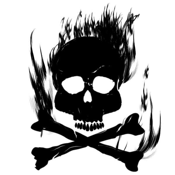 炎のドクロマークデザイン
