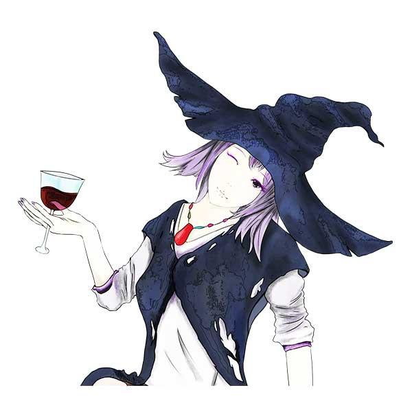 黒魔女乾杯デザイン