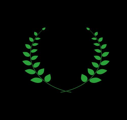 月桂樹(太線つき)3のイラスト