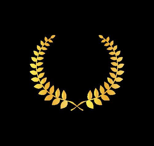 ゴールド月桂樹1のイラスト