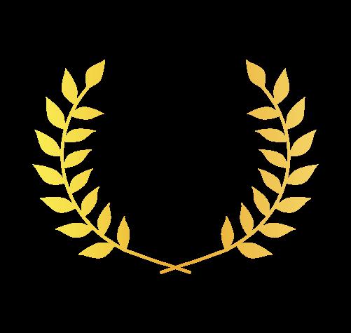 ゴールド月桂樹2のイラスト