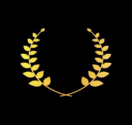 ゴールド月桂樹3のイラスト