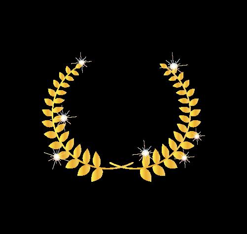 ゴールド月桂樹4のイラスト
