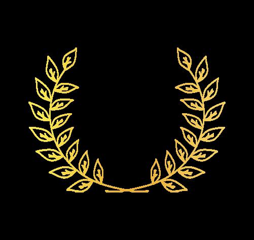 ゴールド月桂樹5のイラスト