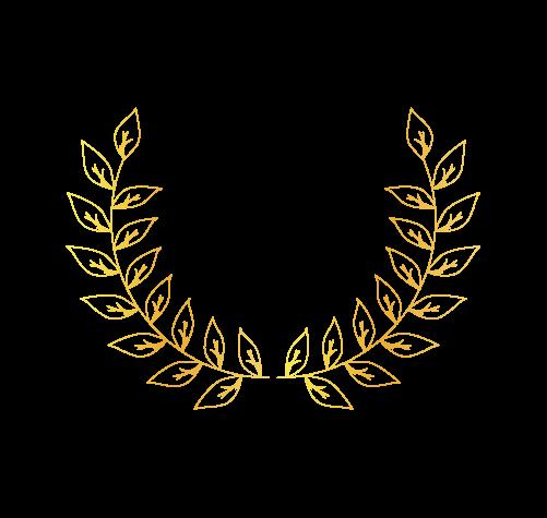 ゴールド月桂樹6のイラスト