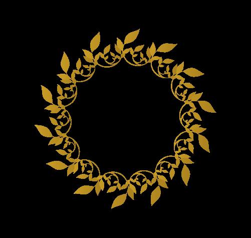 月桂樹フレーム1のイラスト
