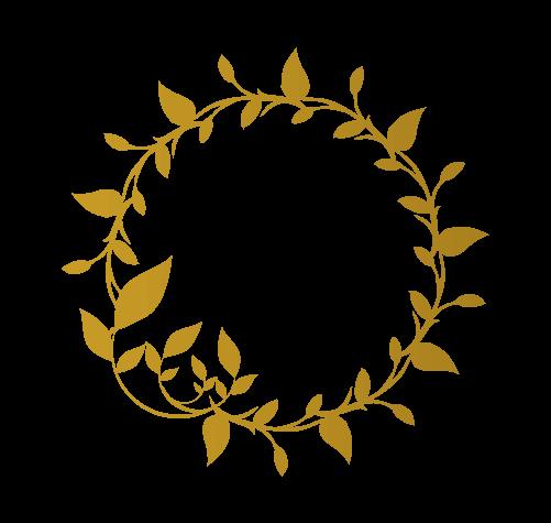 月桂樹フレーム2のイラスト