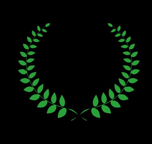 月桂樹(太線つき)1のイラスト