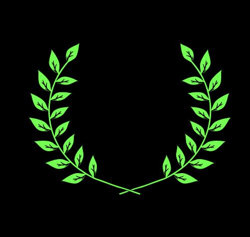 月桂樹(太線つき)2のイラスト
