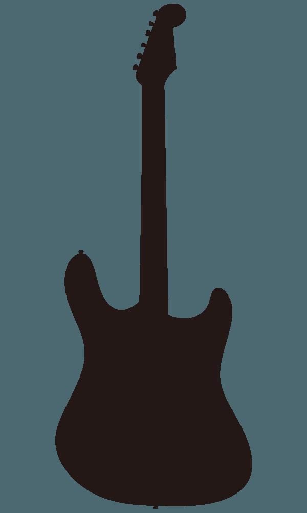 エレキギターのシルエットのイラスト