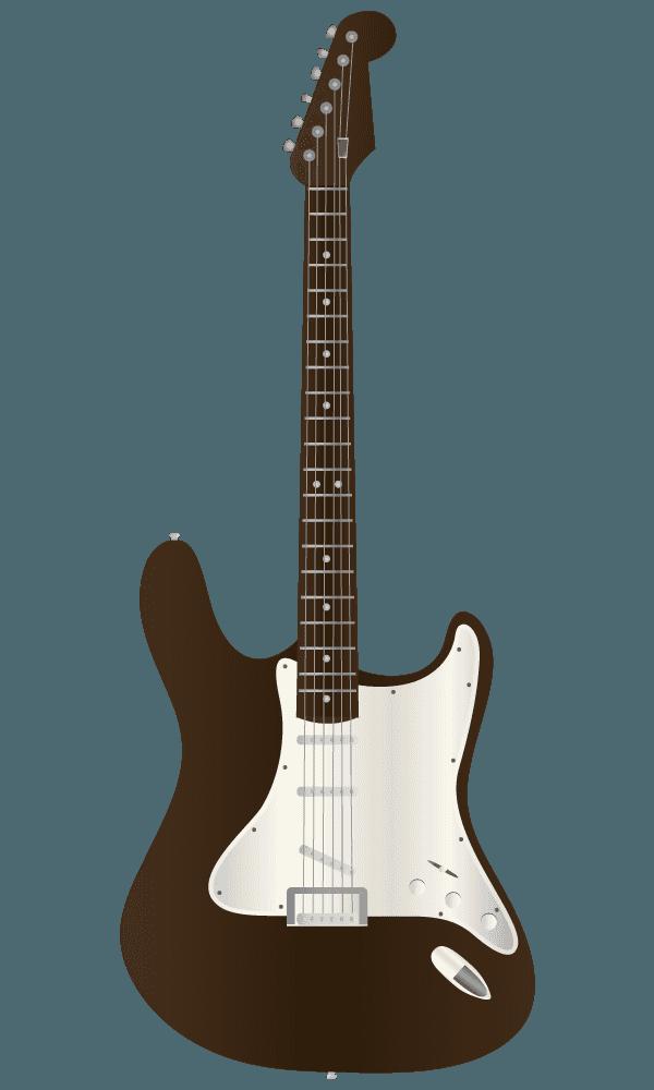 茶色いエレキギターのイラスト