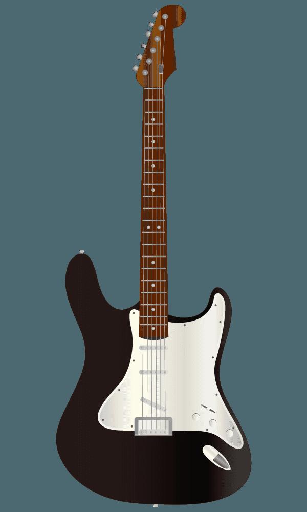 黒いエレキギターのイラスト