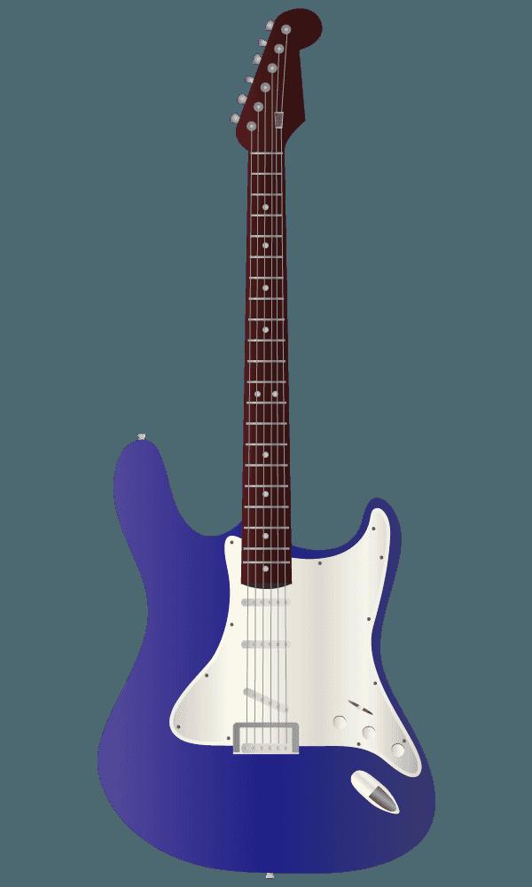 青紫色のエレキギターのイラスト