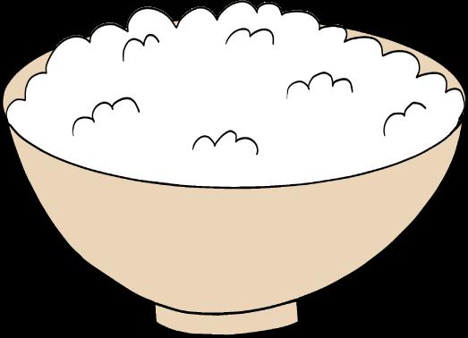 ご飯のイラスト(小盛り)