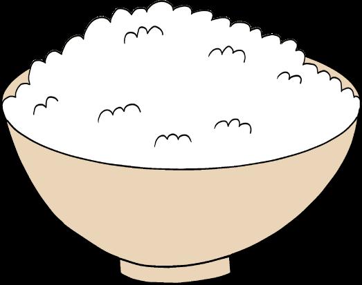 ご飯のイラスト(中盛り)