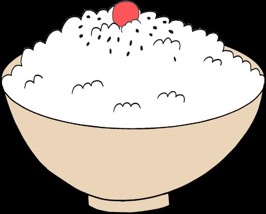 日の丸ご飯のイラスト