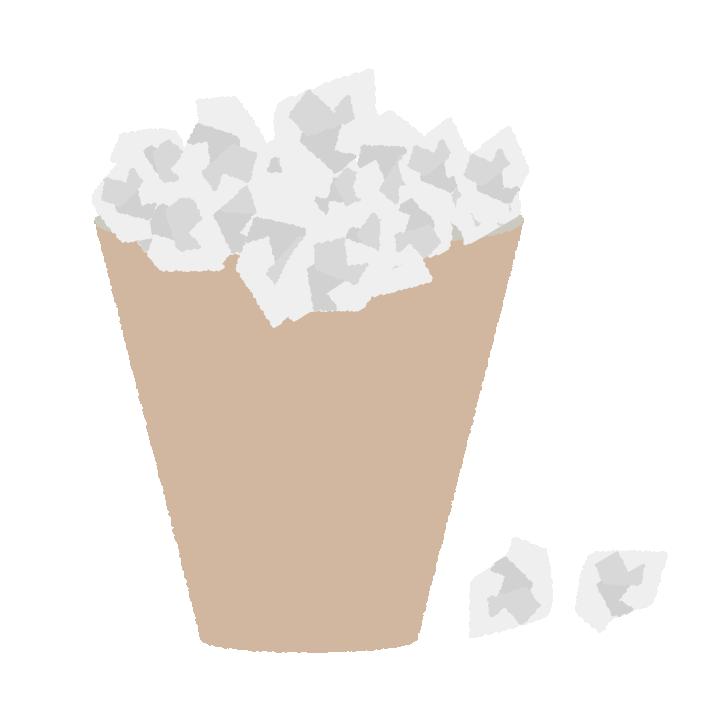 紙クズのゴミのイラスト
