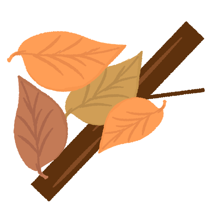 枯葉・木のゴミのイラスト