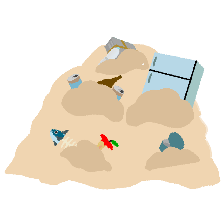 ゴミの山のイラスト2