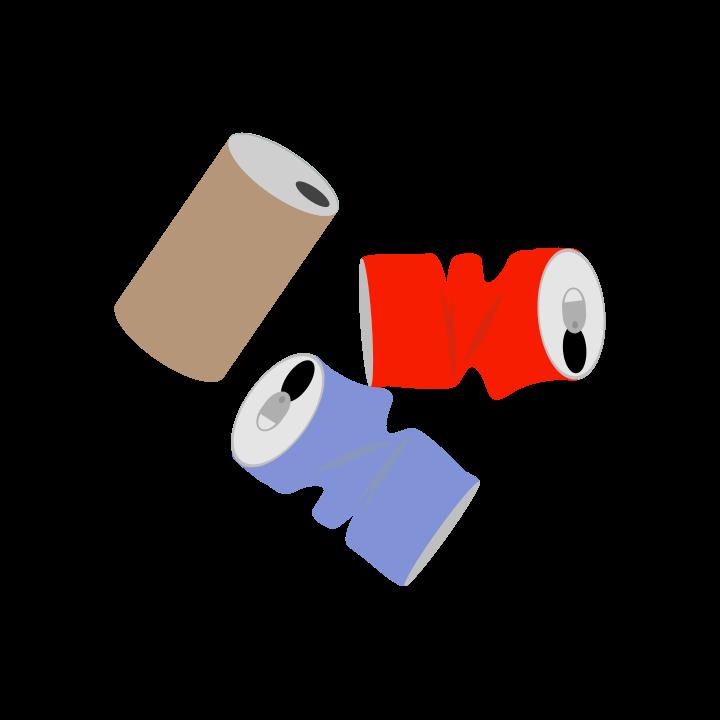 空き缶のゴミのイラスト