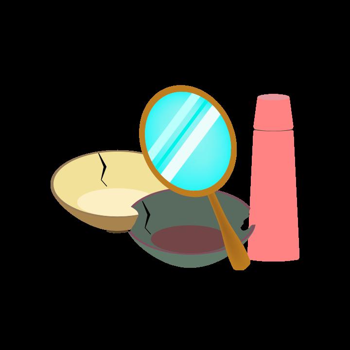 生活用品のゴミのイラスト