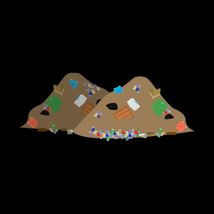 ゴミの山のイラスト