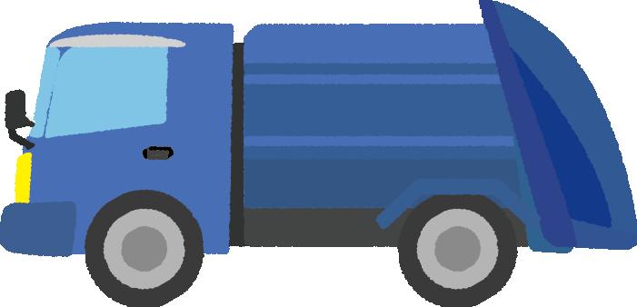 可愛いゴミ収集車のイラスト