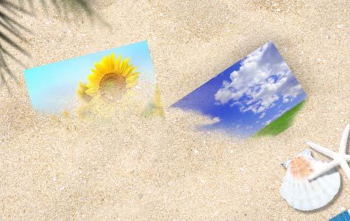 砂に埋もれた合成写真