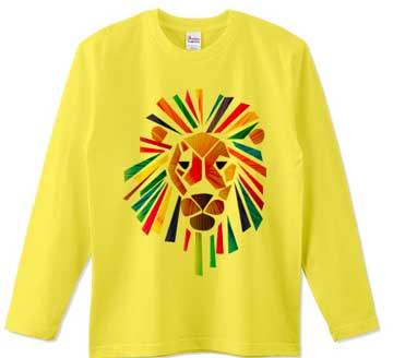 カラフルなライオンTシャツ