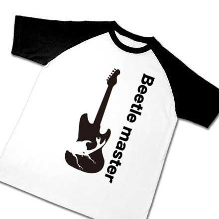 ラグランギターカブト虫Tシャツ