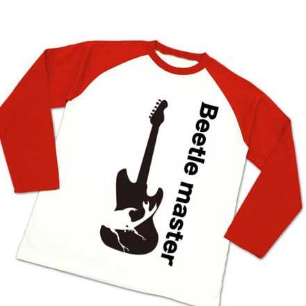 ラグラン長袖ギターとカブト虫Tシャツ