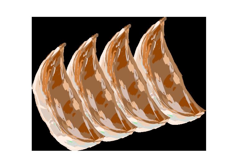 焼き餃子のイラスト