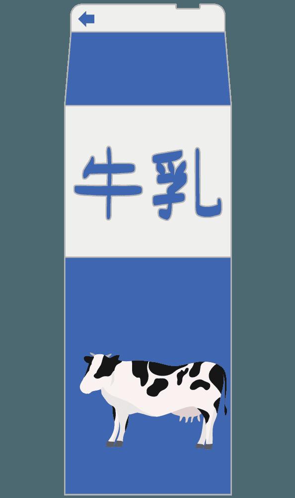 シンプルな牛乳パックのイラスト