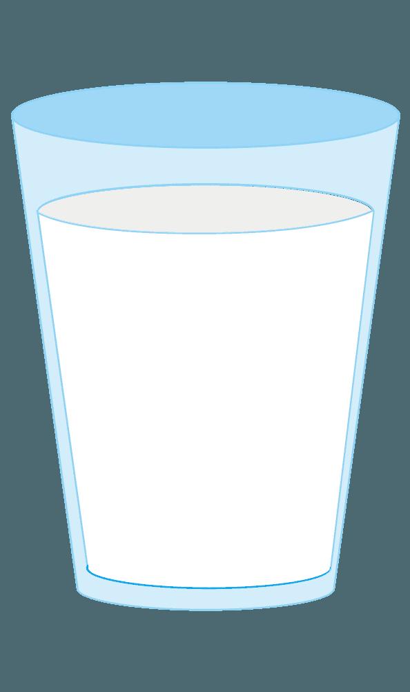 コップに注がれた牛乳のイラスト