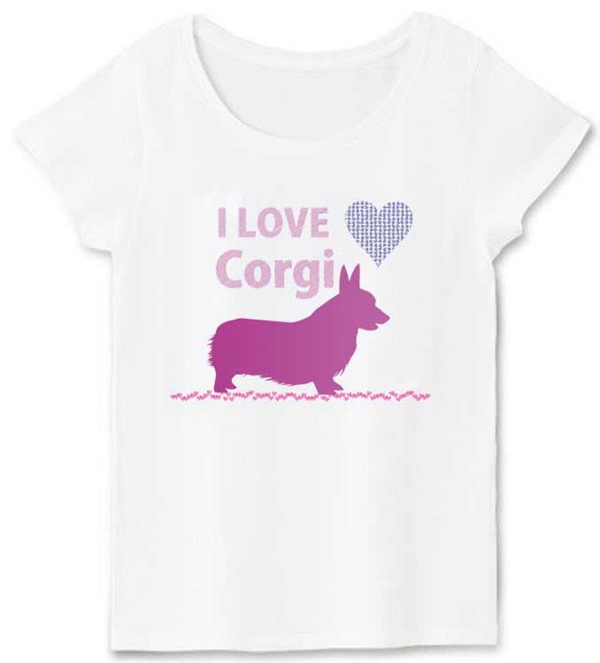 iloveコーギーTシャツハートTシャツ